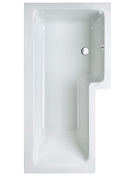 Related Carron Quantum Square 5mm Acrylic Shower Bath 1500 x 850mm Right Hand
