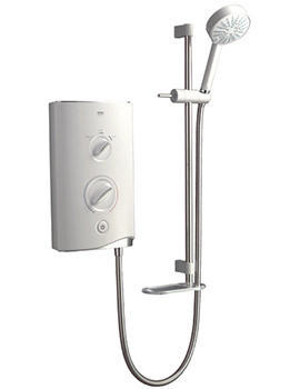 Sport Electric Shower 9.8kW White And Chrome - 1.1746.003