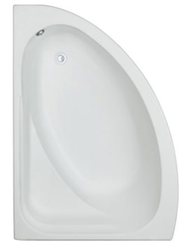 Trojan Orlando White Left Handed Offset Corner Bath 1500 x 1020mm