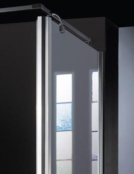 Manhattan Minimal Shower Side Panel 760mm Chrome - M8CL76MSPCL