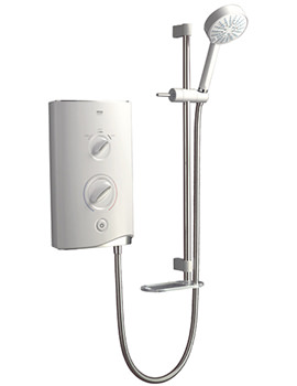 Sport Electric Shower 10.8kW White And Chrome - 1.1746.004