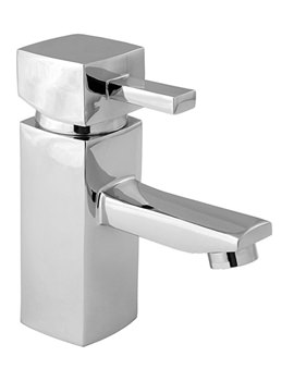 Rubic Mono Basin Mixer Tap With Press Top Waste - RUB113