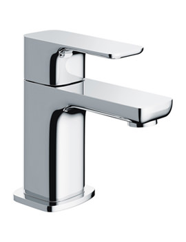 Flite Single Lever Small Basin Mixer Tap With Clicker Waste