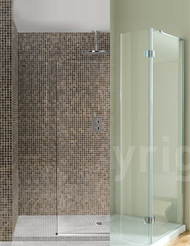 1850x900mm Step-Up Linea Wetroom Tray Pack With Wall Kit
