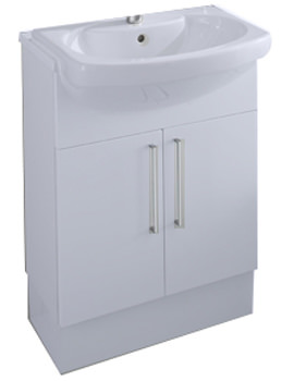 Smooth Semi-Recessed Basin Unit 580mm With Plinth - 856SU1000
