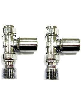 Standard Straight Radiator Valve Pair - 148996