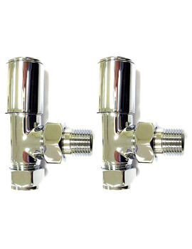 Deluxe Angled Radiator Valve Pair 15mm - 148997