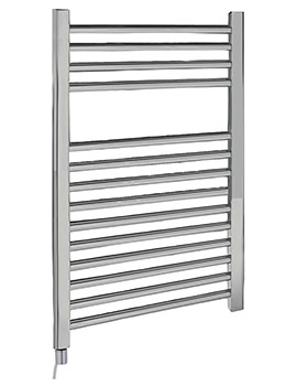 Lauren Electric Only Heated Towel Rail Chrome 500 x 700mm - MTY069