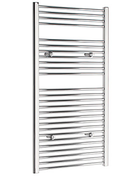Straight 300 x 1200mm Chrome Towel Rail - STRCR30120