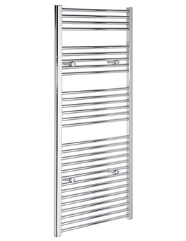 Straight 400 x 1600mm Chrome Towel Rail - STRCR40160