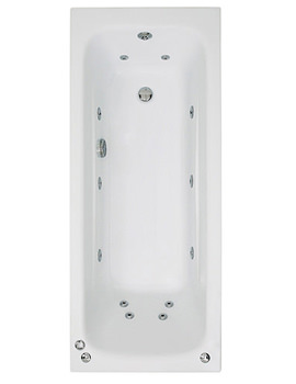Phoenix Crystal Single Ended Whirlpool Bath 1500 x 700mm System 1