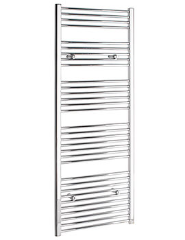 Straight 300 x 1600mm Chrome Towel Rail - STRCR30160
