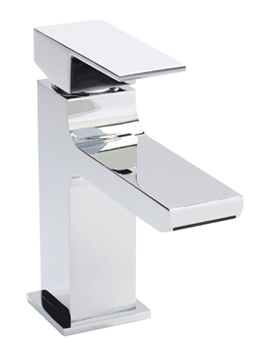 Ultra Prospa Waterfall Mono Basin Mixer Tap With Push Button Waste