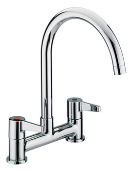 Bristan Design Utility Lever Kitchen Deck Sink Mixer Tap - DUL DSM C