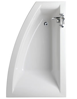 Indulgence Offset Corner Bath 1600 x 500-1000mm -ID8900WH