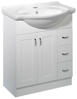 New England 700mm White Vanity Unit Excluding Basin