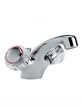Capri Mono Basin Mixer Tap With Clear Head And Waste - 317