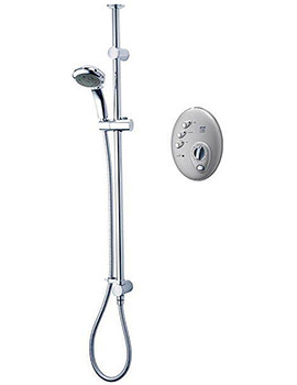 T300si Satin Chrome Wireless Electric Shower 9.5kw