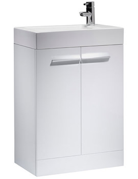 Kobe 560mm White Floorstanding Unit And Basin - K56FW