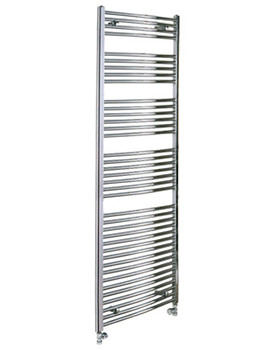 Reina Diva Chrome Flat Towel Rail 400 x 1800mm - DIVA4180