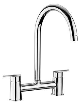 Modern Belfast Bridge Kitchen Sink Mixer Tap Chrome