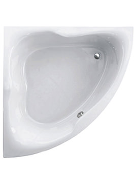 Gloria White 1400 x 1400mm Corner Bath - 154GLORIA14