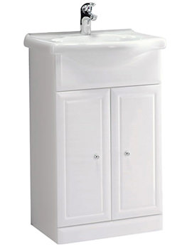 Aspen 500mm White Freestanding Unit Including Basin - A50B