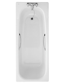 Assisted 1700 x 700mm Slip Resistant Steel Bath With Grips