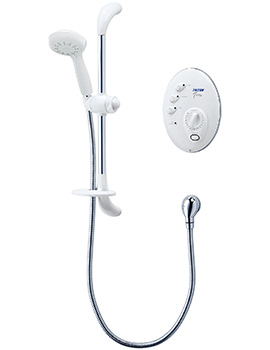 T300si Wired Electric Shower White And Chrome 10.5kw