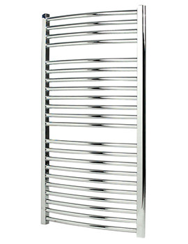 Napoli Curved Sealed Electric Towel Rail Chrome 450 x 700mm
