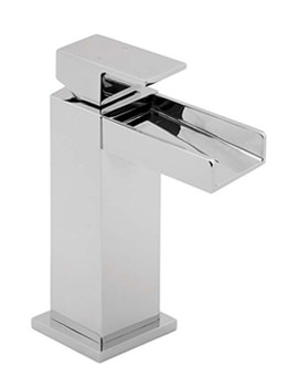 Sparkle Mono Basin Mixer Tap With Press Top Waste - SPA113