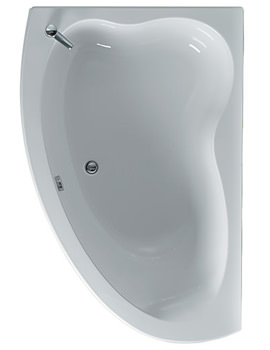 Related Ideal Standard Plus Offset Corner Bath 1600 x 1000mm - E481501