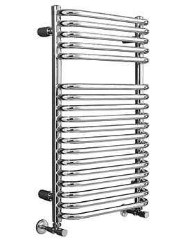Phoenix Crysta Chrome Pre-Filled Electric Designer Towel Rail 500x800mm