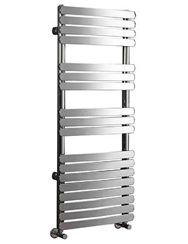 Olivia 500mm Wide Curved Pre-Filled Electric Towel Rail Chrome