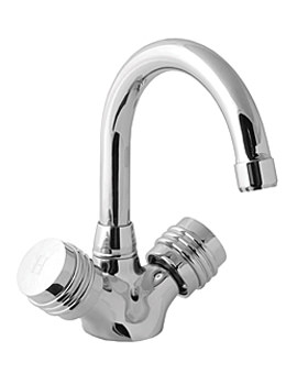 Solerno Mono Basin Mixer Tap With Pop Up Waste And Swivel Spout