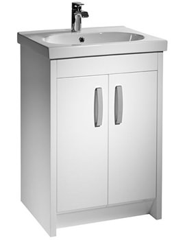 Tavistock Impact 600mm Floorstanding Unit And Basin Gloss White