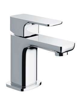 Flite Single Lever Basin Mixer Tap With Clicker Waste - FLBAS