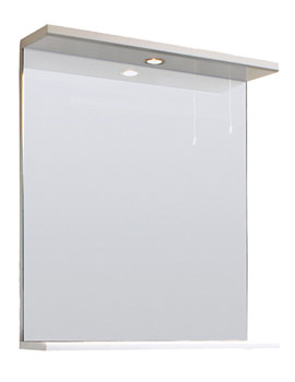 Lauren Mayford 650mm Mirror With Lighting Canopy Gloss White