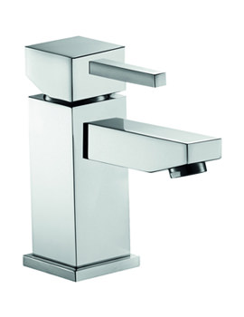 Sq2 Basin Mixer Tap With Clicker Waste - SQHFBAS