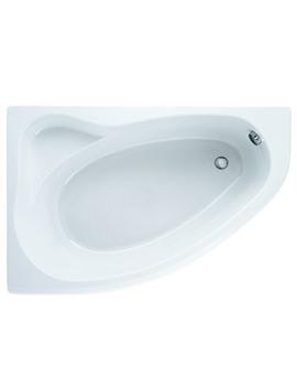 Adamsez Arc Left Hand Offset Corner Bath 1500 x 1000mm - ARL-WH078