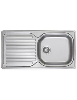 Franke Elba ELN 611 96 Stainless Steel 1.0 Bowl Kitchen Inset Sink