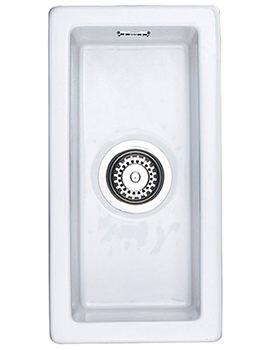Rustique 1.0 Bowl Undermount Or Inset Ceramic Sink White