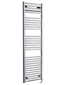 Phoenix Flavia Straight Electric Chrome Towel Rail 300 x 800mm