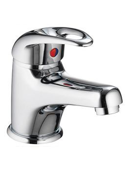Dv8 Eco Small Basin Mixer Tap With Clicker Waste - DVESBAS