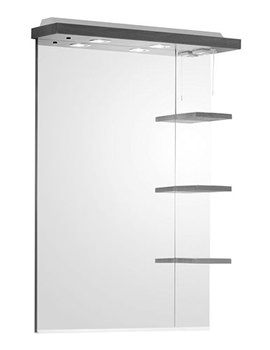 Ella 700mm Mirror With Shelves And Canopy White