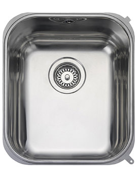 Atlantic Classic 1 Bowl Undermount Kitchen Sink 378 x 448mm
