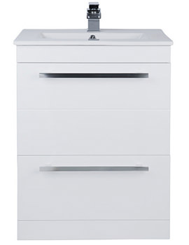 Warner 600mm Floor Standing 2 Drawer Vanity Unit And Basin