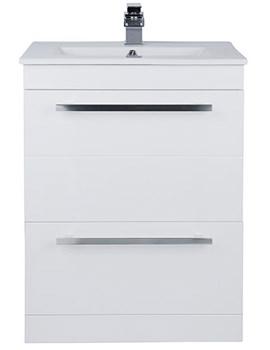 Warner 600mm Floor Standing 2 Drawer Vanity Unit And Basin