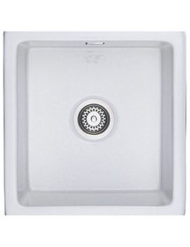 Rustique Large 1.0 Bowl Undermount Or Inset Ceramic Sink White
