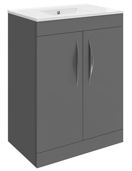 Memoir Grey 600mm 2 Door Vanity Unit - CAB191